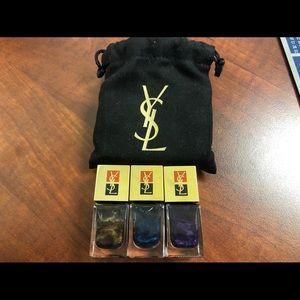YSL La Laque #126,127&128 nail lacquer.